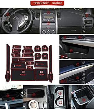 Hireno Anti Poussi/ère Antid/érapante Holder Int/érieur Coupe Porte Mat Tapis pour X-Trail 2008-13