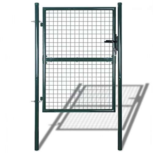 Garden Entry Gate Door Fence Galvanized Steel Fencing Walk Thru 39''W x 79''H S1D4 by Maximumstore