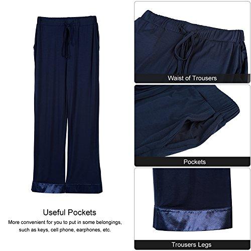 per Navy Fitibest Pantaloni shirt di Lunghe T Blu Pigiama Adatto Inverno e Autunno e Donna Set Primavera Maniche xBFSH