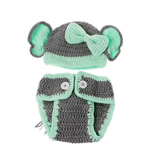 (Shoresu Baby Photography Props, Born Lovely Elephant Costume Handmade Knitting Studio Photography Props )