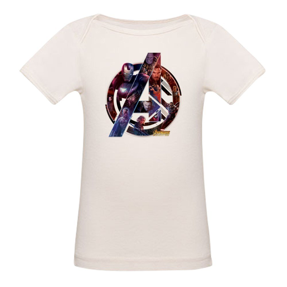 CafePress Avengers Infinity War Symbol Organic Baby T