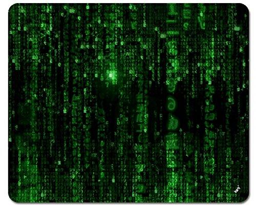 1art1 The Matrix Mouse Pad - Matrix Code, Digital Rain (9 x 7 inches)