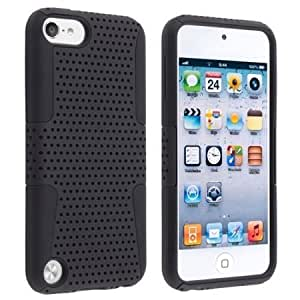 Quaroth Importer520 Snap-On Protector Hard Case for Apple iPod Touch 5 5G 5th Generation (Black Black)