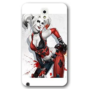 UniqueBox Harley Quinn Custom Phone Case for Samsung Galaxy Note 3, DC comics Harley Quinn Customized Samsung Galaxy Note 3 Case, Only Fit for Samsung Galaxy Note 3 (White Frosted Shell)