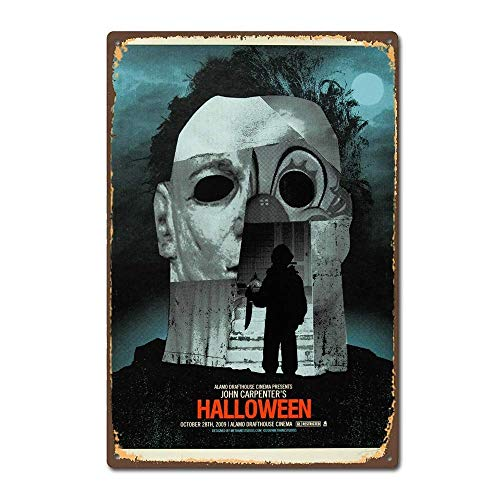 LHZJ Fashionable Halloween 1978 Horror Film Movie Poster Vintage Retro 8X12 inches Metal tin Sign -
