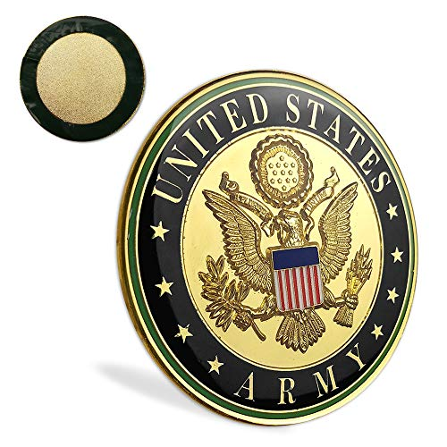 - United States Army Car Emblem US Liberty Eagle Military Challenge Coin Metal Auto Decal