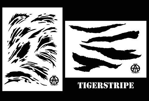 (Acid Tactical 2 Pack - 9x14 Camouflage Airbrush Spray Paint Camo Stencils - Gun Paint Set - Vietnam)