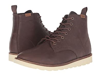 Vans Brown Leather Lace-Up Boots