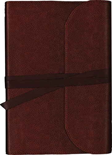 (KJV, Journal the Word Bible, Large Print, Premium Leather, Brown, Red Letter Edition: Reflect on Your Favorite Verses)