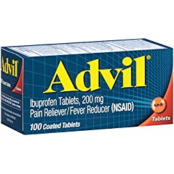 Advil Pain Reliever / Fever Reducer Coated Gel Caplet, 200mg Ibuprofen, Temporary Pain Relief (100 Count)