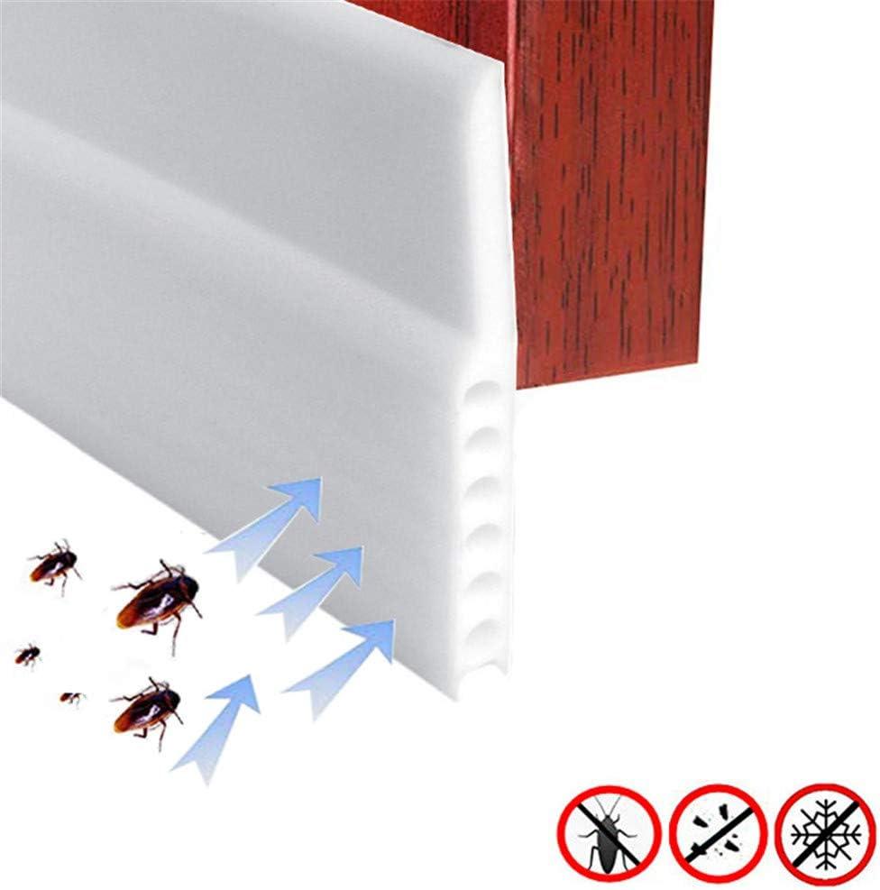 5cm Selbstklebende T/ür T/ürdichtung Dichtungsstreifen Zugluftstopper gegen Insekt Ersatzdichtung Wetterfest Blocker Schalldichtung Silikon T/ürstopper 100