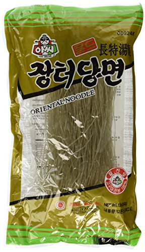 Assi Glass Noodles, Korean Vermicelli, Dangmyun, Sweet Potato Starch (12 Ounces)