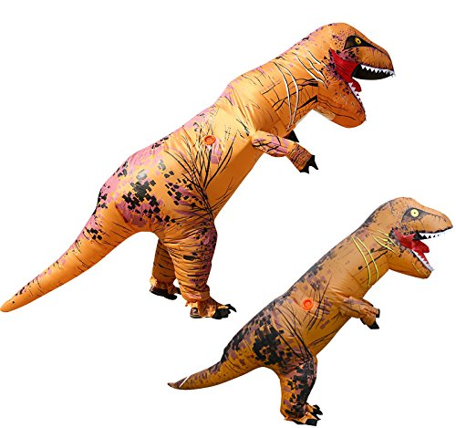 2PCS T-REX Costume Inflatable Dinosaur Outfit Father and Kids Fancy Dress Suit
