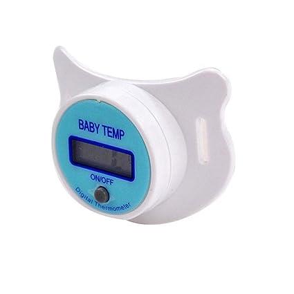 Merssavo Seguridad Digital Salud Pezón Boca Chupete Termómetro para Bebé Infantil (Azul)