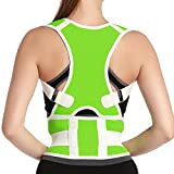 Unisex Adjustable Back Posture Corrector Shoulder Health Orthopedic Support Belt Thoracic Back Brace Posture Support Corrector for Neck Shoulder Upper Back Pain Relief Size XL Green