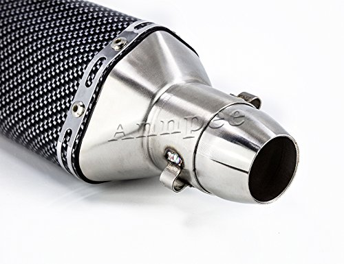 Annpee Carbon Fiber 1.5-2''Inlet Exhaust Muffler with Removable DB Killer for Street/Sport Motorcycles and Scooters with 38-51mm diameter exhaust pipes. by JIKAN (Image #5)
