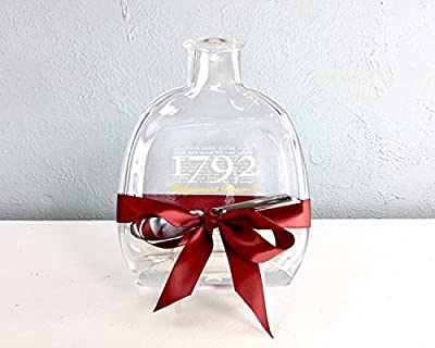 1792 Bourbon Whiskey Flattened Bottle Cheese Board