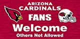 "NFL 12""x6"" Fans Welcome Wood Sign"