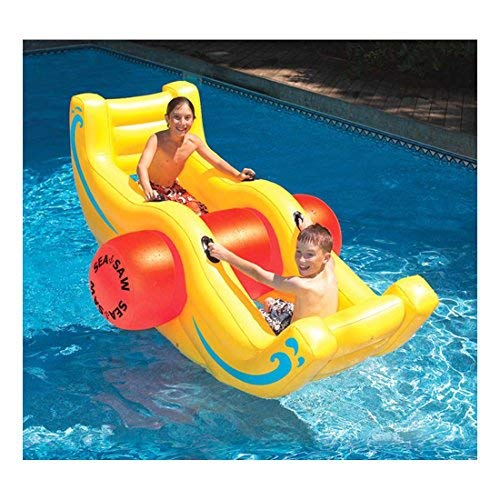 New Swimming Pool Inflatable Sea-Saw Rocker See-Saw Float Lounge Dimensions: 100