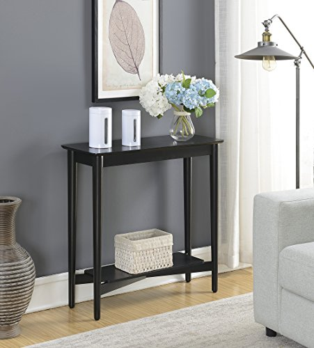 Convenience Concepts 7303081BL Hall Table, Black by Convenience Concepts