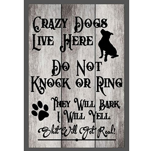 TNS STORE Custom Do Not Knock Crazy Dogs Live Here