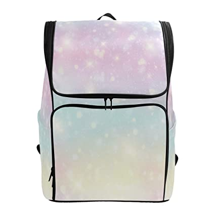 175fd33ebcd1 Amazon.com: Shining Rainbow Clouds Backdrop Laptop Backpack for ...