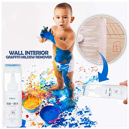 Fine Wall Interior Graffiti Remover,Kids Handwriting Graffiti Cleaner for Wall, Wall Cleaning Gel for Pencil, Crayon, Watercolor Pen, Footprints (Multicolor)