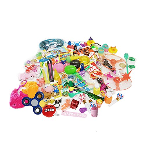 The Award Box- Prize Box Party Favor Stocking Stuffer- Over 120 Assorted Kid Prizes, Fidget Spinner and More. Great For Parents, Teachers, Therapists, Doctor's Offices or (Box Stocking)