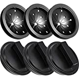 Boao 6 Pieces Garbage Disposal Splash Guard and Sink Stopper Set, Waste Food Disposal Sink Baffle for Kitchen (3-1/8 Inch in Diameter)
