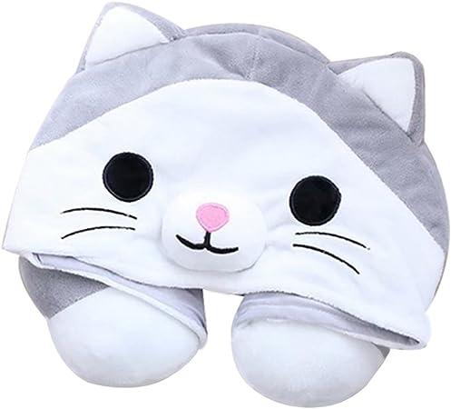 Home Textile en forme de U Cartoon animal oreiller appuie-tête Voiture poupée coussin décoratif