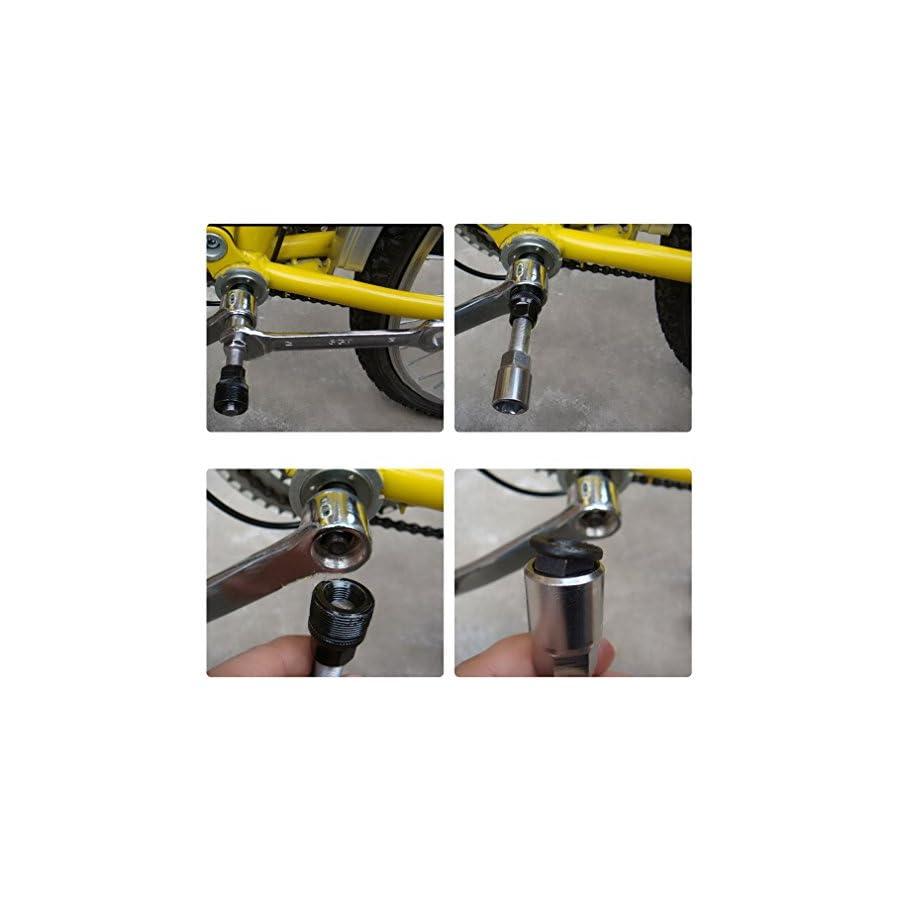 Od sport Bike Rpair Tool Bicycle Crank Remover,16 in 1 Mutifunction Tool,Chain Remove Tool,tire Repair Tool,Rider Cycling Equipment (Bike Crankset Pulle)