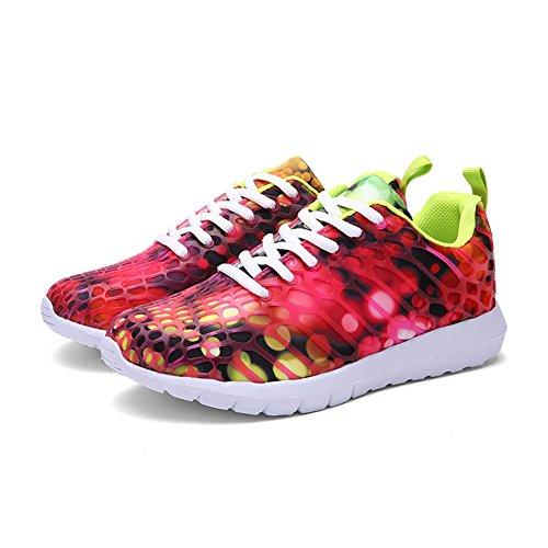 Sneakers Casual Moda Casual Da Uomo Donna Unisex In Mesh Traspirante, Scarpe Sportive Sportive Verde Rosato