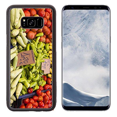 Fig Cucumber (Luxlady Samsung Galaxy S8 Plus S8+ Aluminum Backplate Bumper Snap Case IMAGE ID: 21452240 Farmers market)