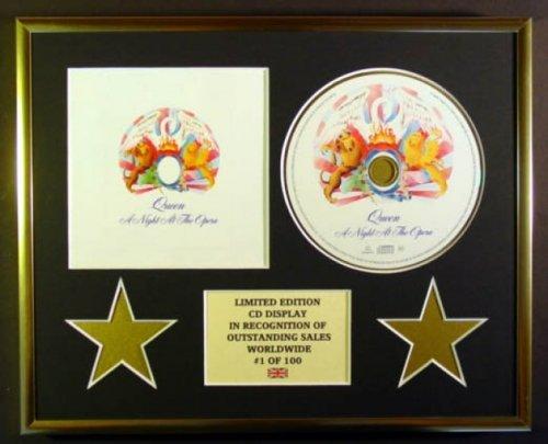 QUEEN/CD Display/Limitata Edizione/Certificato di autenticità /A NIGHT AT THE OPERA Everythingcollectible 54-N1V8-SM02