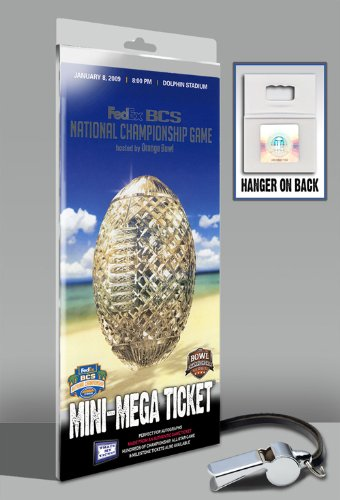(2009 BCS Championship Mini-Mega Ticket - Florida Gators)