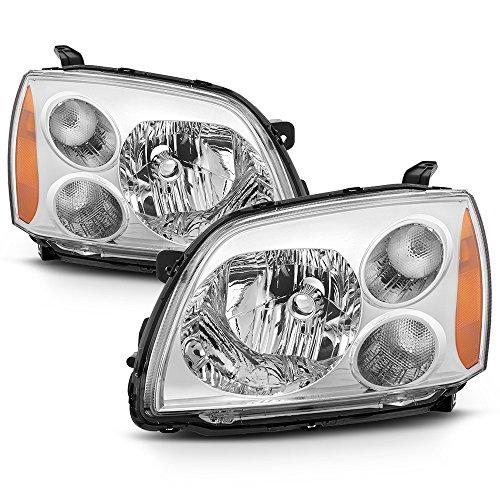 ACANII - For 2004-2012 Mitsubishi Galant Chrome Halogen Headlights Headlamps 04-12 Driver + Passenger Side