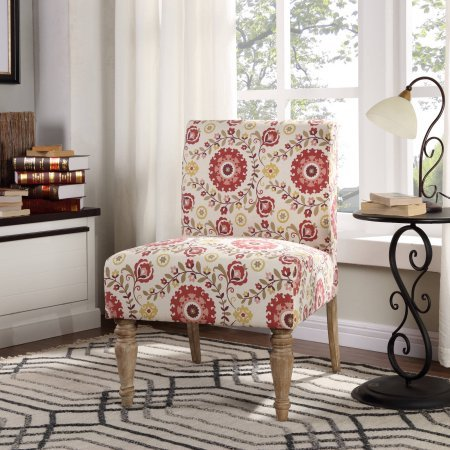 Better Homes and Gardens Medallion Slipper Chair, Polyester printed upholstery-grade fabric
