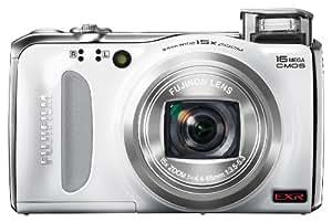 Fujifilm FinePix F505 16 MP CMOS Sensor and 15x Optical Zoom Digital Camera with 4 GB Class 10 SD Memory Card (White)