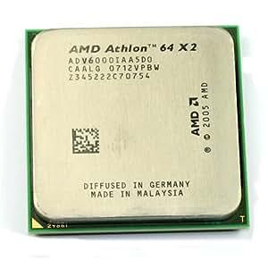 AMD Athlon 64 X2 6000+ - Procesador (2x 512 kB, 3,1 GHz, 89 W, para zócalo Brisbane)
