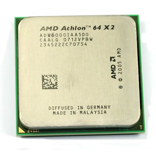 - AMD Athlon 64 X2 6000+ 3.1GHz 2x512KB Socket AM2 Dual-Core CPU