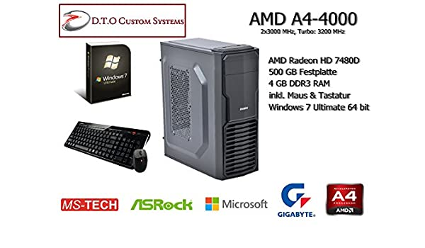 Amd - A4-4000 APU con Radeon HD 7480d, Caja, fm2: Amazon.es ...