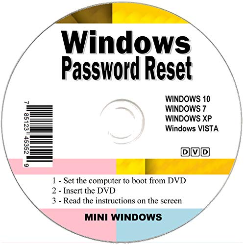 Seifelden 2019 Windows Password Reset Disk Recovery Premium Bootable Disc for Removing Your Forgotten Windows Password on Windows 10, Windows 7, Vista, XP - Unlimited Use! for Desktop and Laptop ⭐⭐⭐⭐⭐ (Windows 8 Recovery Disk Without Windows 8)