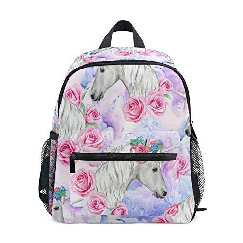 Rosa De Escuela Bolsa Para Niños De Niños Unicornio Color Zzkko Mochila Floral Niñas La Pequeños De Los Libros Los Ew4q1CCXx