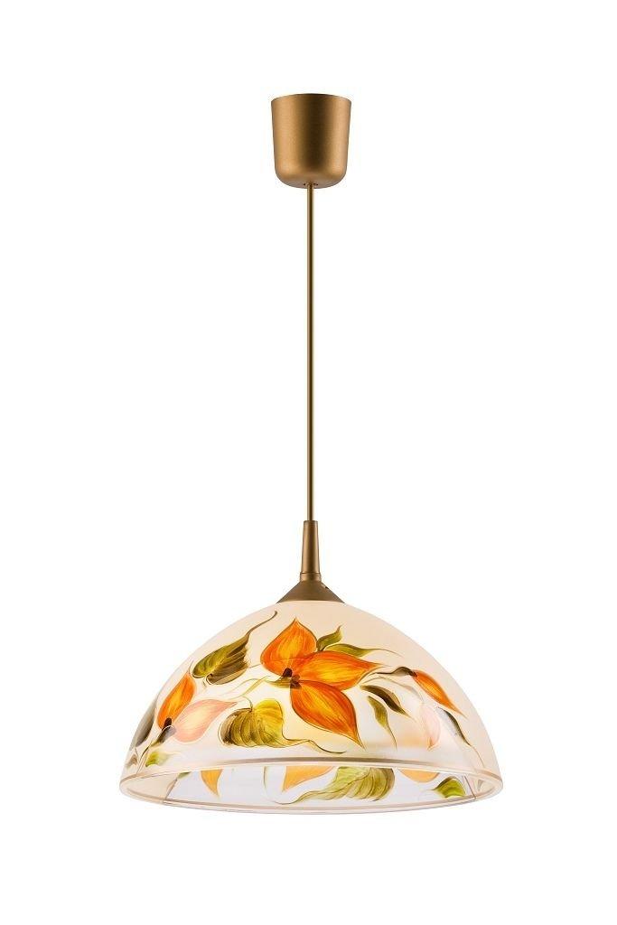 Küchenlampe Deckenleuchte Deckenlampe Glas individuell handbemalt E27 (LM-1.2 8 19772)