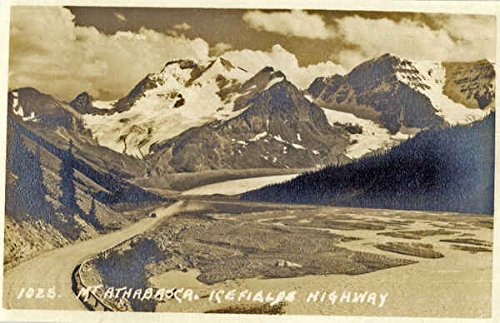 Mt Athabasca, Ice Fields Mt Athabasca, Alberta Canada Original Vintage Postcard