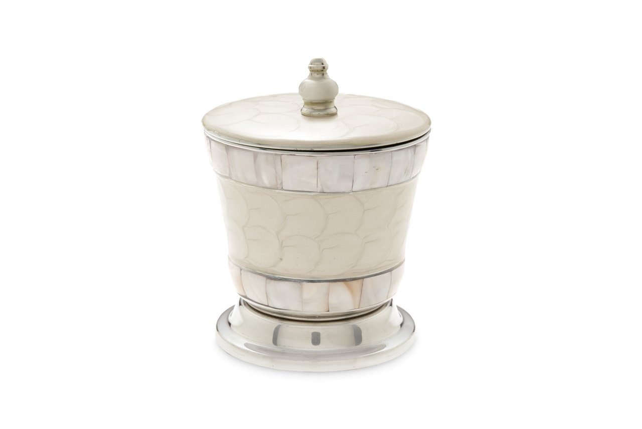 Julia Knight Classic 5.5'' Covered Canister Snow Bath Collection, One Size,