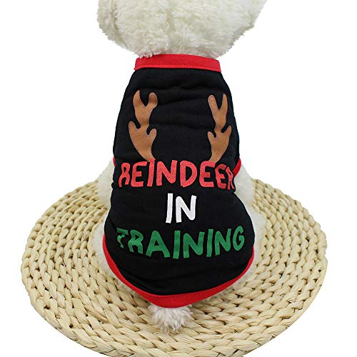 Christmas Pet Clothes, Duseedik Puppy Dog Cat Pullover Polyester T Shirt Puppy -