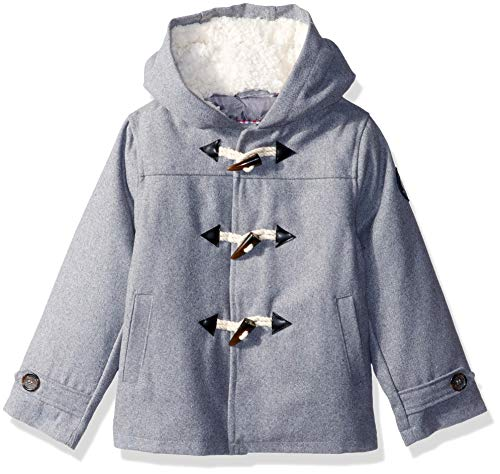 ddler Faux Wool Coat with Toggle Closure, Heather Charcoal, 4T ()
