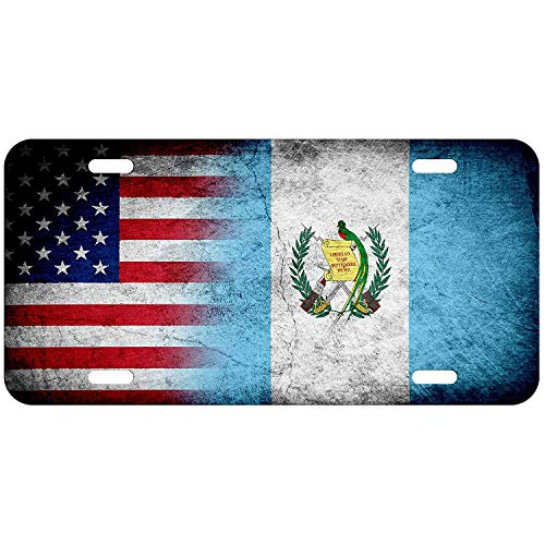 (Flag of Guatemala (Guatemalan) - Bricks Personalized Patriotic Novelty License Plates, Custom Decorative Front Car Tag for US Vehicles, 12 x 6 Inch)