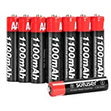 AAA Batteries Rechargeable, Soluser Rechargeable AAA Batteries 1100mAh AAA High-Capacity Batteries Rechargeable AAA Batteries 1.2V Ni-MH Low Self Discharge 8-Pack